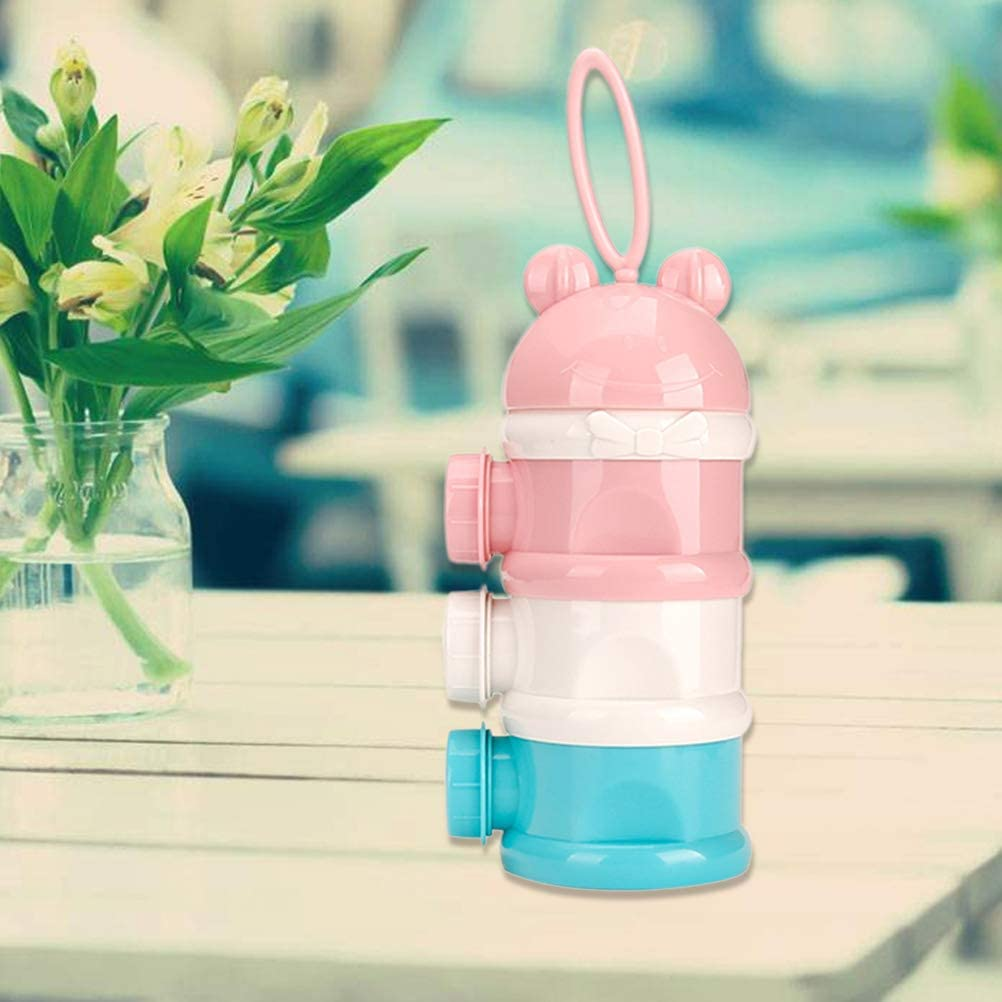 TOYANDONA 1pc Baby Milk Powder 3-Layers Plastic Non-Spill Baby Feeding Stackable Holder Container for Todddlers Infants Baby