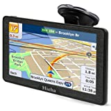 Hieha 7 Inches Navigation System for Car Truck Vehicles with Pre-Loaded Latest US/CA/MX Maps, 8GB 256Mb Touch Screen GPS Navi