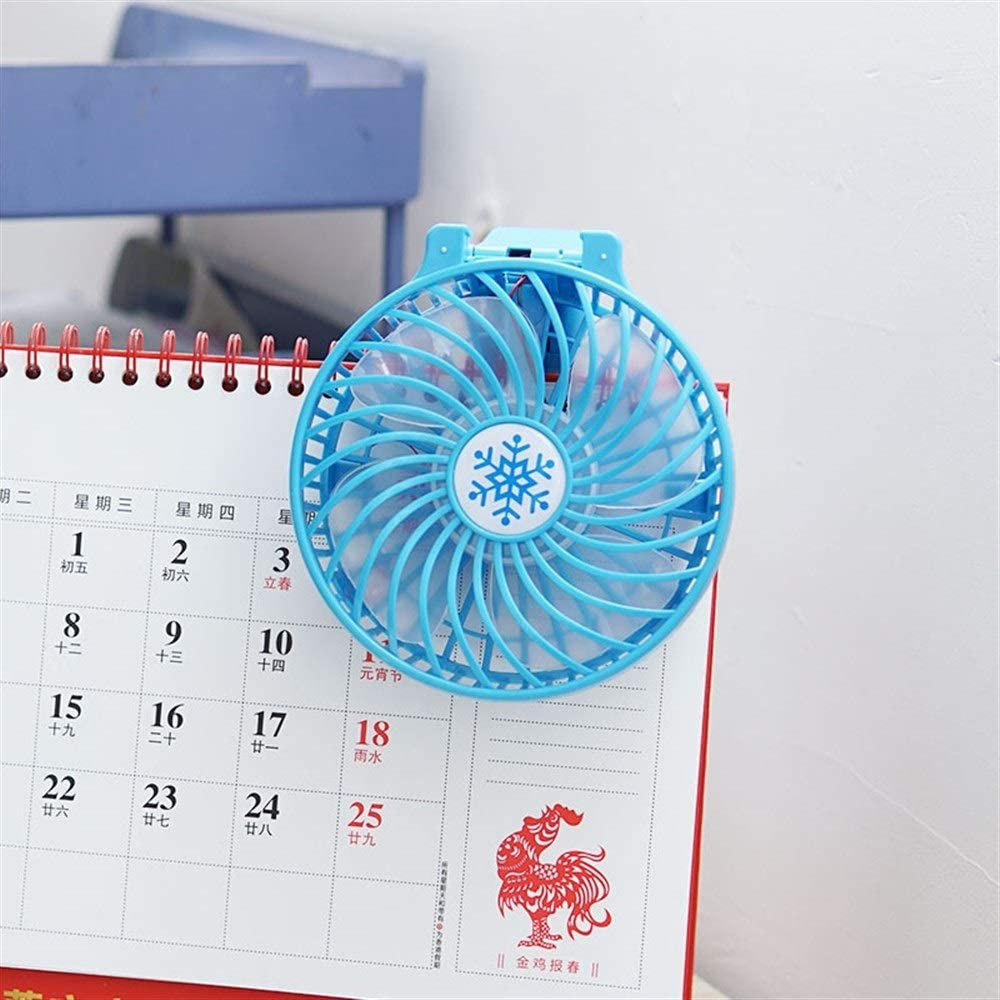 Comfortable and Convenient USB Small Fan That Can Be Folded Color : Pink 10.56.421.6cm//4.22.568.64 Inches, Blue//Pink//Green//Black Send Battery Yougou01 Electric Fan Plastic Material