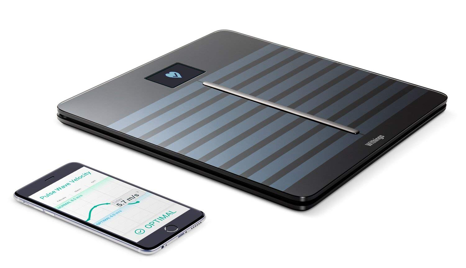 Withings Body Cardio - Heart Health and Body Composition Wi-Fi Scale, Black (Renewed)