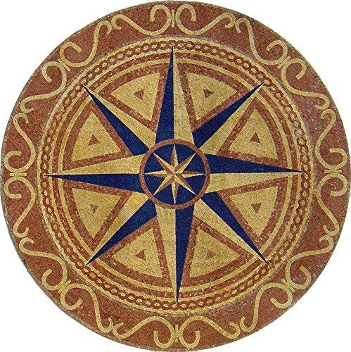 Treasure Quest Marble Mosaic Tiles Wall Bath Home Decor Medallion Floor Art (60