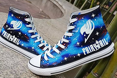 Fairy Tail Anime Logo Cosplay Shoes Canvas Shoes Hand-painted Shoes Sneakers Luminous ip1PH