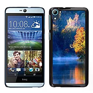LECELL--Funda protectora / Cubierta / Piel For HTC Desire D826 -- Naturaleza Blue Lake --