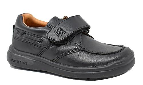 Biomecanics 101133 - Zapato náutico colegial de niño - Negro - Piel - (30)