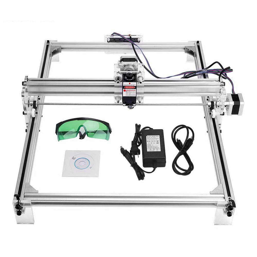 Uttiny Laser Engraver Kits, 30x40cm DIY CNC 2500MW USB Upgraded 2 Axis Desktop Printer Used As Carving Engraving Cutting Machine for Leather Wood Plastic (White) by Uttiny