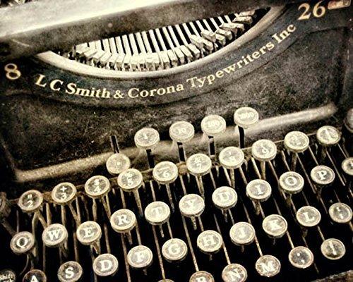 Antique Typewriter photo office decor 8x10 inch Print by Audra Edgington Fine Art