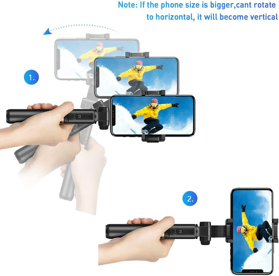 Oneplus Handheld Extendable Phone Tripod with Single Axis Gimbal Anti-Shaking Stabilizer for iPhone 12//11 Pro//XS Max//XS//XR//X//8//7//6 Samsung Galaxy//Note Apexel Bluetooth Selfie Stick Google Pixel