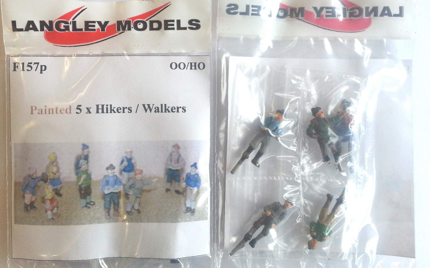 10 Hikers walkers OO Scale 1:76 UNPAINTED Metal Model Kit F157 Langley Models