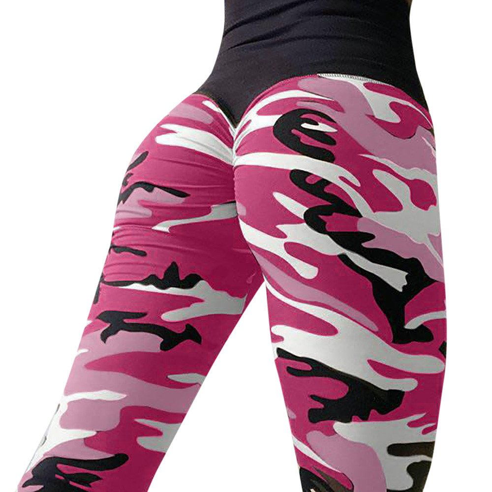 WUYIMC Women's Camo Ruched Legging Butt Lift Yoga Pants Workout Stretchy Skinny Yoga Pants Thights by Clearance! WuyiMC (Image #2)