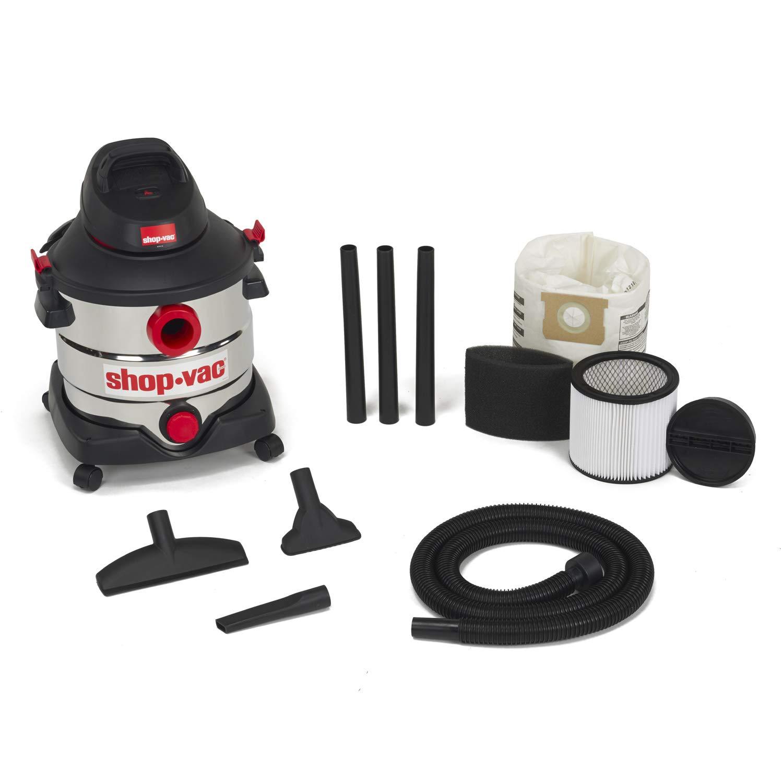Shop-Vac 5989400 8 gallon 6.0 Peak HP Stainless Wet Dry Vacuum, Black by Shop-Vac