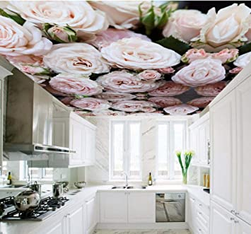 Mural Custom 3d Ceiling Wallpaper For Hall Kitchen Room Hotel 3d Ceiling Murals European 3d Rose Wall Paper Large Photo Mural 250x175cm Wallpaper Amazon Co Uk Diy Tools
