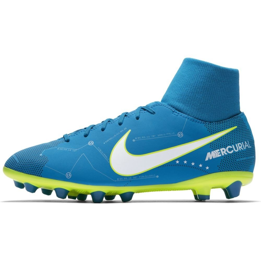 Nike JR MERCURIAL VCTRY6 DF NJR AGP - Zapatillas de fútbol de Neymar Jr, Unisex infantil, Azul - (Blue Orbit/White-Blue Orbit-Armory Navy): Amazon.es: ...