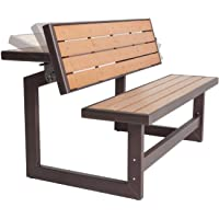 Lifetime Convertible Bench, Faux Wood Construction, 60054