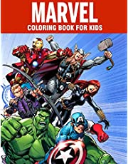 MARVEL coloring book for kids: Super Heroes illustrations for boys and girls (age 3-10) Avangers: Iron Man, Thor, Hulk, Captain America, Black Panther, Spider-Man, Doctor Strange, Thanos, Infinity War