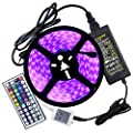 MUMUWU EU Plug Waterproof IP67 72Watts 5050 LED RGB 5 Meters 300LED 5050SMD 44kyes Remote Controller 5A Power Adapter AC 100-240V