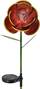 Arcadia Garden Products GS18P Solar Large Poppy Garden Stake 7x28