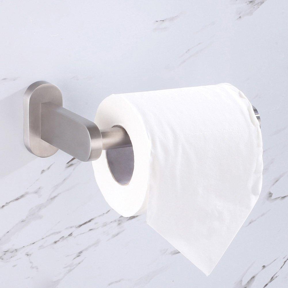 Utility Half Open TP Roll Organizer Toilet Paper Holder Bathroom Kitchen Storage Brushed Nickel APLusee SUS304 Stainless Steel Tissue Roll Hanger