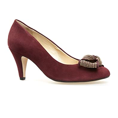 89a8069178 Van Dal Shoes Womens Court Elm in Port Suede: Amazon.co.uk: Shoes & Bags