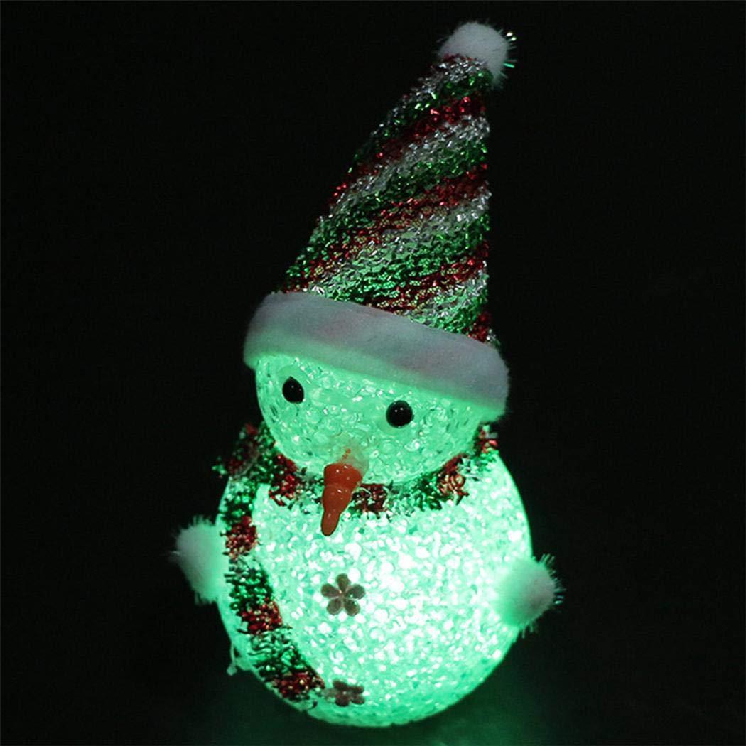 amiubo Zufällig 1 pcs LED Schnee Männer Weihnachtsschmuck DIY Home Party Festival Dekoration Dekorationen