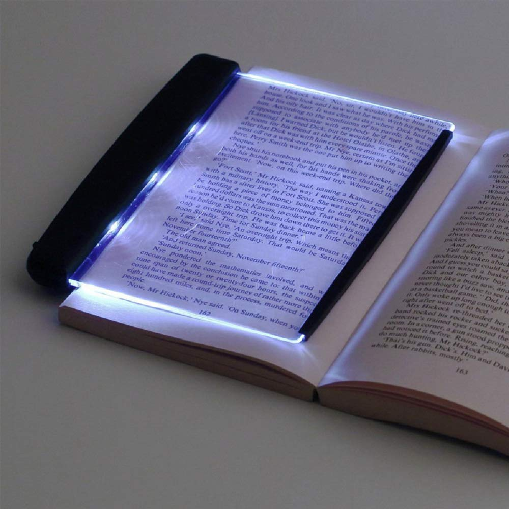 LED Night Light Book Light Eye Protection Portable Panel Book Reading Lamp Paperback Book Light, PageGlow LED Reading Lights