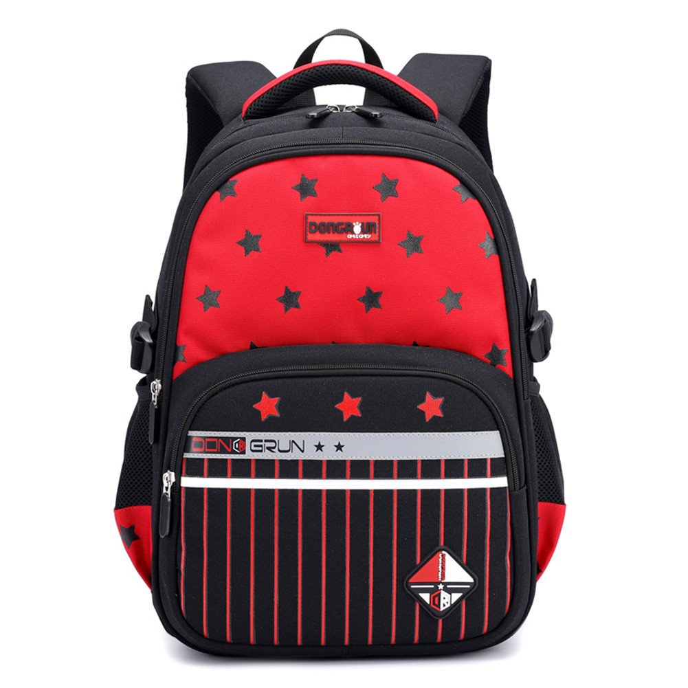 Red Primary School Backpack Ideal for 16 Grade School Students Boys Girls Daily Use Casual Backpack bluee