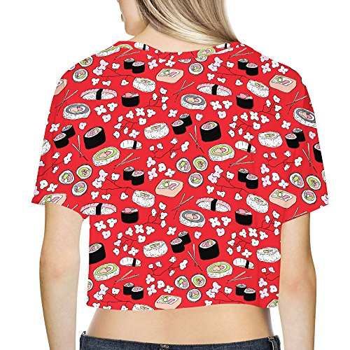 Sushi Cherry Blossom Loose Fit Crop Top XS - 3XL