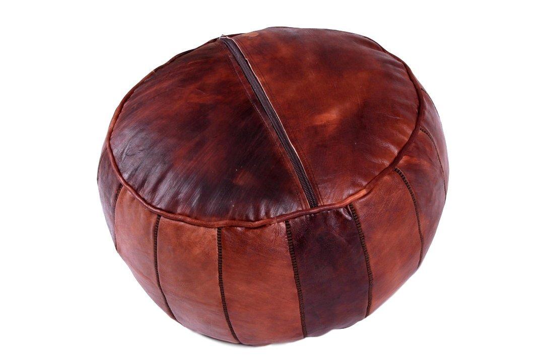 Housse uniquement Moroccan World livr/é vide Pouf en cuir fait main Repose-pieds Marron avec Point Marron