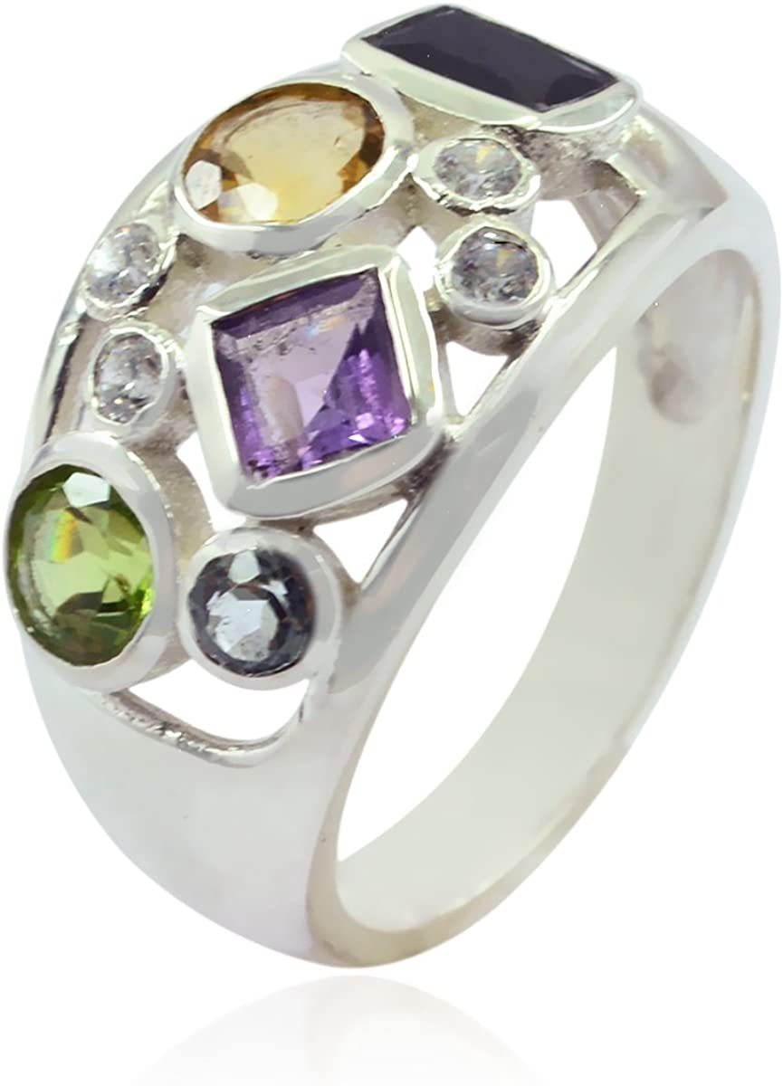 fine Jewellery fine Selling Items Gift for Independence Solitaire Engagement Nice Fashion Purple Amethysts Good Gemstones Ring Good Gemstones Fancy Shape Faceted Amethysts Rings