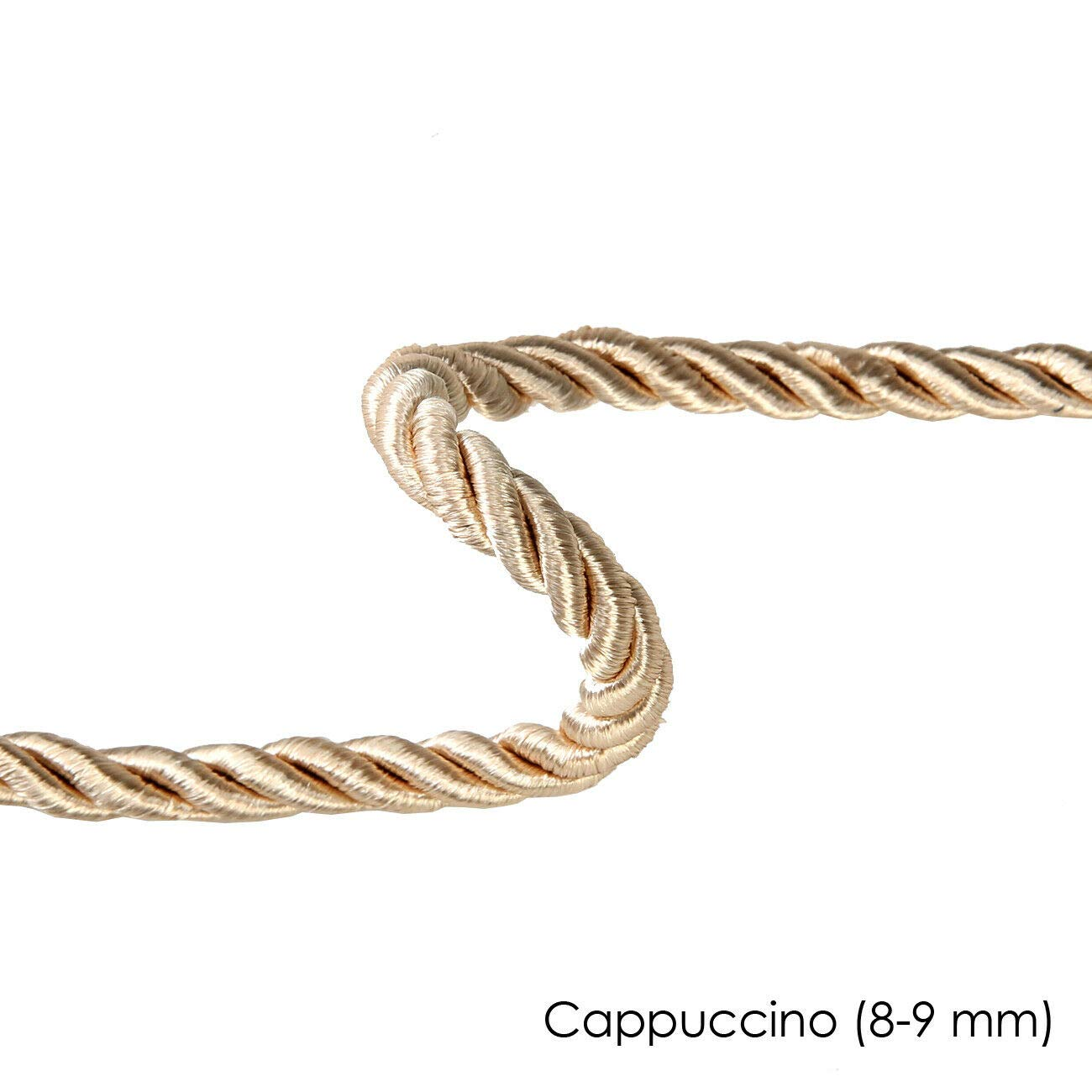Prominent 3 Ply Twist Look 3 Metres for Piping or Edging,Upholstery,Curtain,Costume /& Home D/écor High Sheen Neotrims 10mm Barley Twist Rope Cord Trimming,Braided Red 8mm