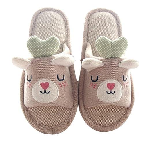 Amazon.com | Cattior Little Kid Kids Slippers Open Toe Bedroom ...