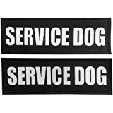 Fairwin Dog Patches, Reflective and Removable Dog Tags for Service Vest Dog Harness