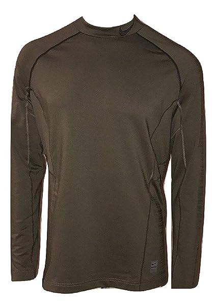 37c01749e86a0 Nike Men  s Pro Gamme Hyperwarm Fitted Manga Larga Camiseta