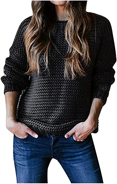 KOERIM Women Long Sleeve Solid Split Turtleneck Waffle Knit Pullover Sweater Mid-Length Tops for Fall and Winter