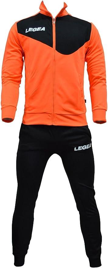 Legea - Chándal, mod. Messico Tempesta, color naranja/negro, talla ...
