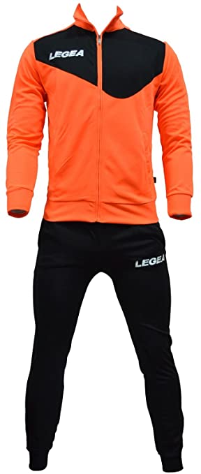 Legea - Chándal modelo México Tormenta en naranja y negro - Talla M ... 98c77f9f02b12