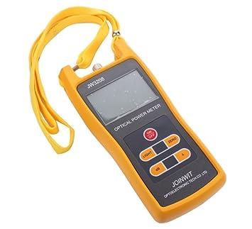Medidor de potencia óptico de mano jw3208 a, medidor de comprobador de fibra óptica -70 a + 3dbm: Amazon.es: Informática