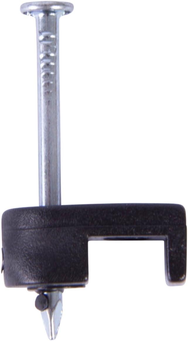Gardner Bender PSB-160 Low-Voltage Plastic Staples, 3/16 Inch., Secures Bell / Speaker Wire, For Wood Applications, Polyethylene - UV Resistant, Splinter Free, 100 Pk., Black