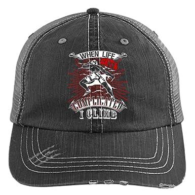 d64029e34a8 I Climb Hat, I Love Climbing Trucker Cap (Trucker Cap - Black) at ...