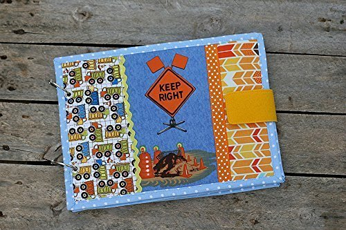 Detour Ahead Fabric book, boys transportation cloth book, 6 pages