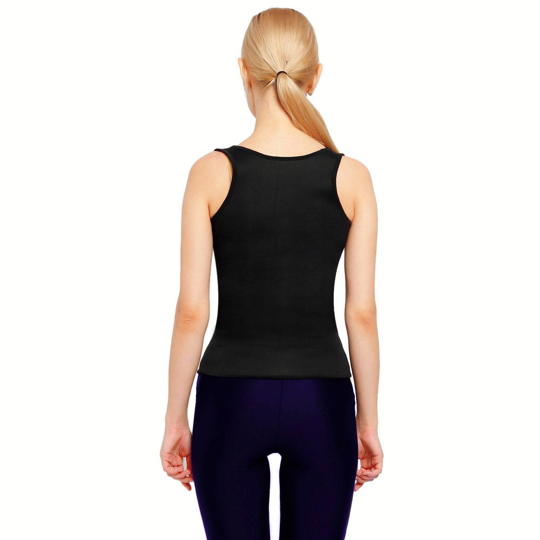 397b1e9300ed6 Funnygirl Women s Body Shaper Hot Sweat Workout Tank Top Slimming Vest Tummy  Fat Burner Neoprene Shapewear for Weight Loss No Zipper   Accessories    Sports ...