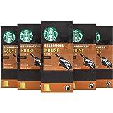 Starbucks House Espresso Capsules Nespresso* Compatible (Pack of 5, Total 50 capsules)