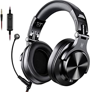 Oneodio Gaming Headset Studio DJ Headphones Stereo Over Ear Wired Headphone With Microphone For PC PS4 Xbox One Gamer A71 - Black