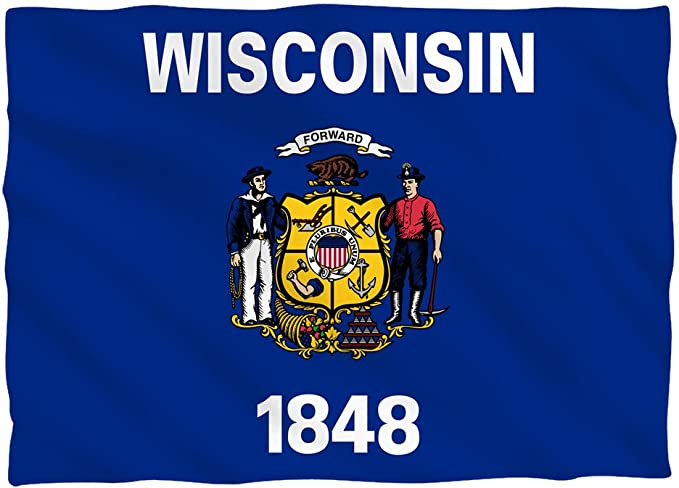 Tilted Tees Wisconsin State Flag Pillow Case Home Kitchen