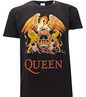 Camiseta Rock Queen con Logo Vintage clásico Música Rock