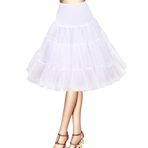 ISASSY 50s Retro vintage tutu Swing Net petticoat underskirt Wedding Rockabilly organza skirt dress
