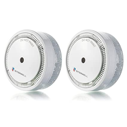 SITERWELL Smoke Alarm Mini, UL Listed, Modern Compact Size, 10 Years Battery Operated Photoelectric Smoke Alarm, Easy to Install Mini Fire Alarm | ...