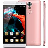 Kivors 6 Inch Android 5.1 Mobile Phone Unlocked 3G Smartphones SIM-Free IPS 1280*720P 1GB RAM+8GB ROM 1.3GHz Quad Core Phone 8MP+2MP Dual Camera Dual SIM Card Dual Standby Mobile Phone Smartphone (Pink)
