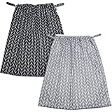 Teamoy (2 Pack) Reusable Pail Liner for Cloth Diaper/Dirty Diapers Wet Bag, Gray Arrow+Black Arrow
