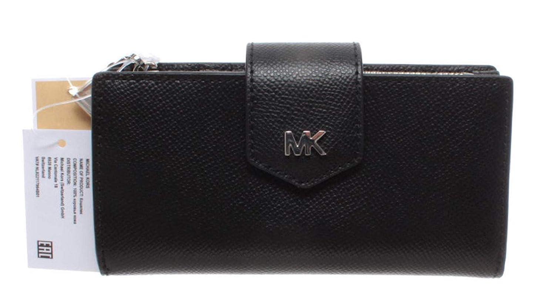 Michael Kors Brieftaschen Damen 32T9SF6F2L Leder Schwarz