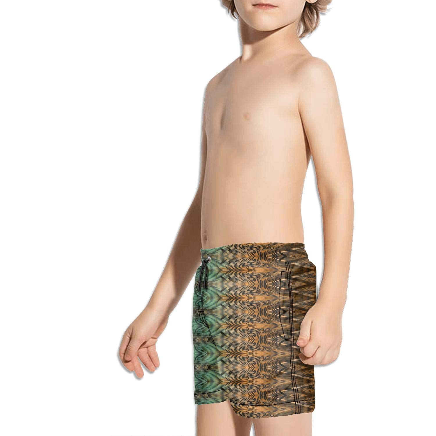 FullBo Leopard and Snake Design Pattern Little Boys Short Swim Trunks Quick Dry Beach Shorts